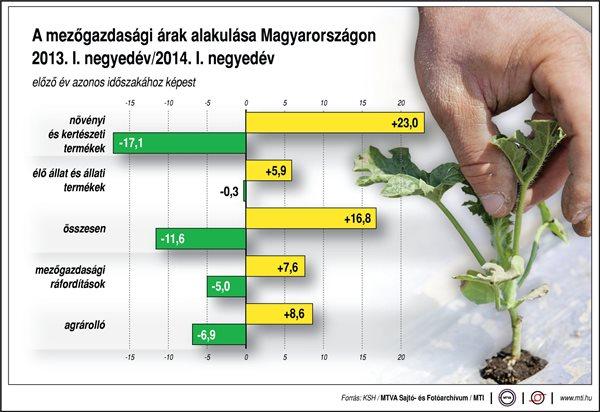 Tovább csökkentek a termelői árak