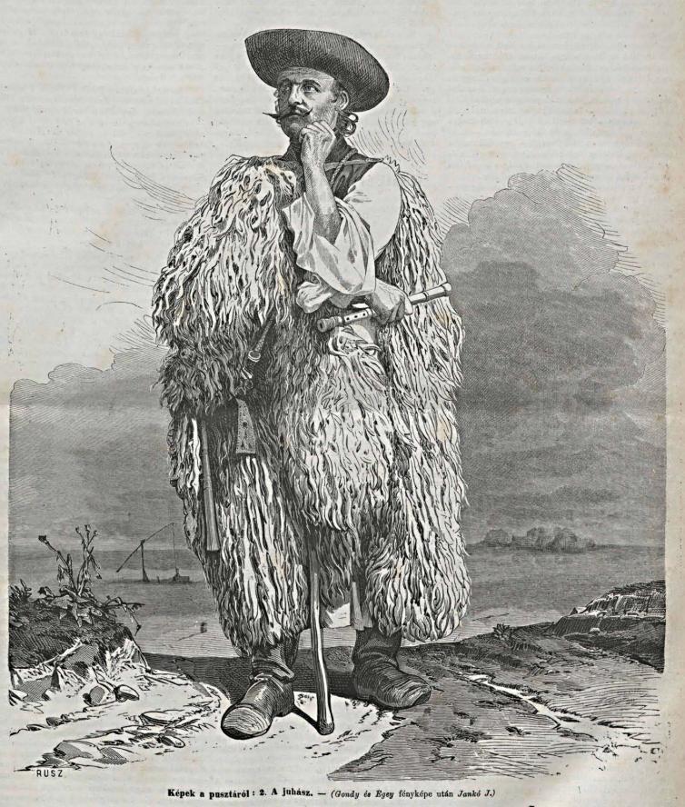 A képen egy korabeli pásztor