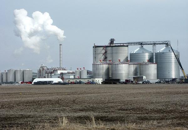 Bioetanol gyár munka közben