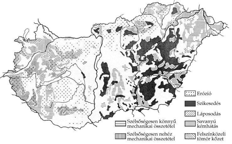 Magyarország talajainak szerkezeti problémái [Bernát Tibor - Magyarország gazdaságföldrajza]