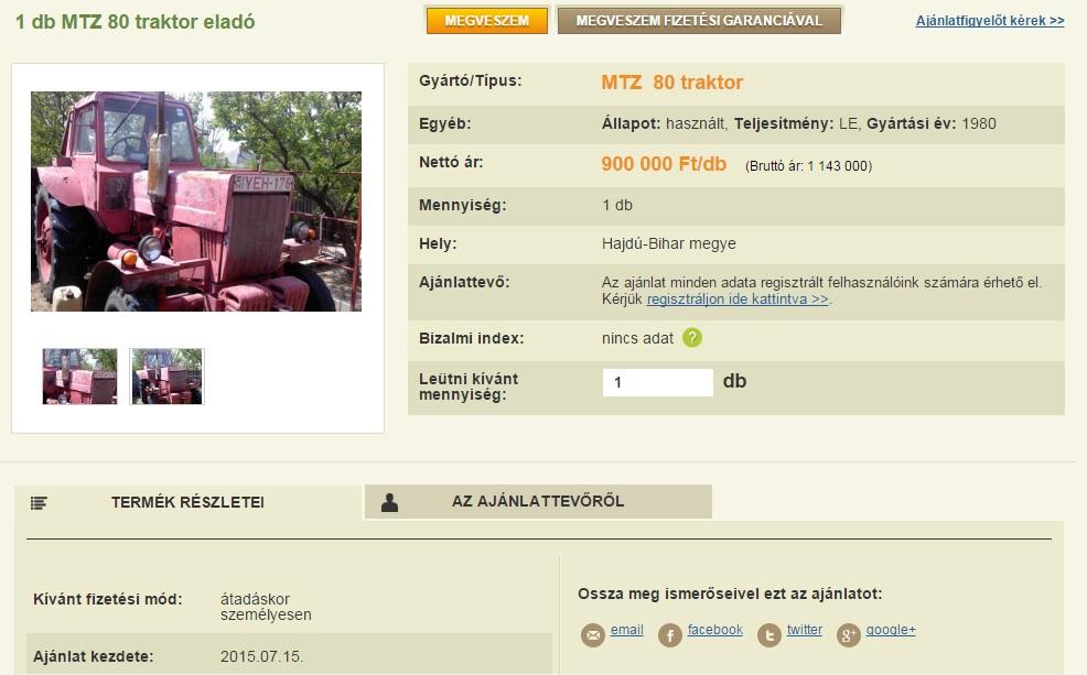 A Magro.hu-n már használt és új gépeket is lehet adni-venni, rejtett költségek és sms-díjak nélkül.