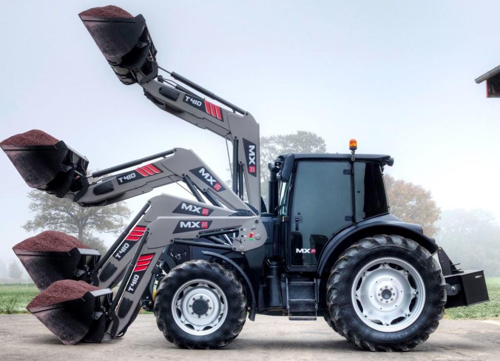 Az MX T410 homlokrakodó berendezés elsősorban a kis gazdálkodóknak nyújt nagy segítséget