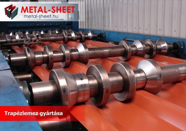 Trapézlemez gyártása a Metal-Sheet Kft telephelyén