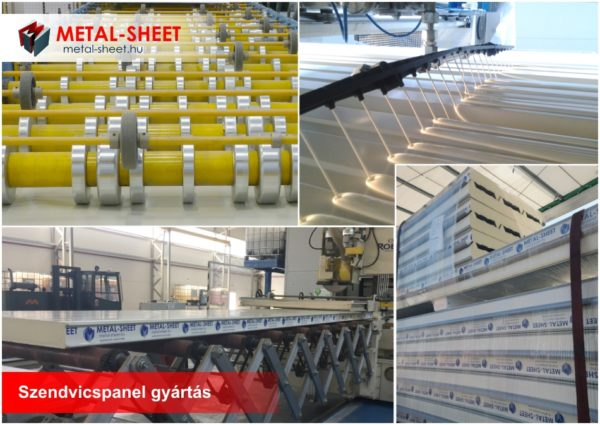 Szendvicspanel gyártás a Metal Sheet Kft. debreceni telephelyén