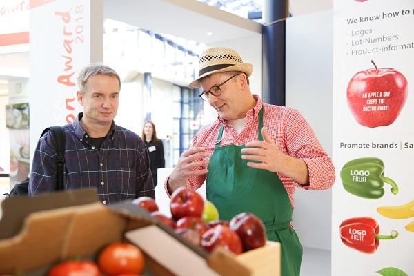 """FRUIT LOGISTICA 2018 innovációs díj - Kellermeister Manns: """"LogoFrucht"""" - gyümölcslogó"""