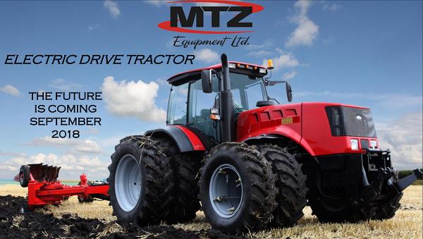 Az első dízel-elektromos MTZ traktor 2018 őszén mutatkozik be - forrás: mtzequipment.com