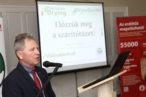 Speizer Ferenc beszél a szárítók pontos beállításának fontosságáról