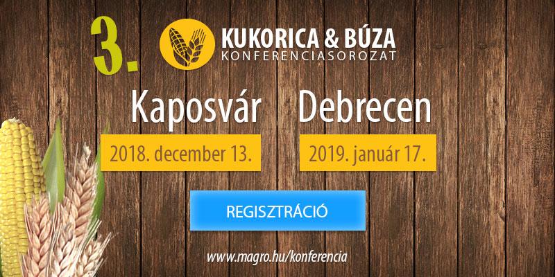 A III. Kukorica és Búza Konferenciasorozat a 2 fő szántóföldi növényünk termesztéstechnológiai újdonságait mutatja be