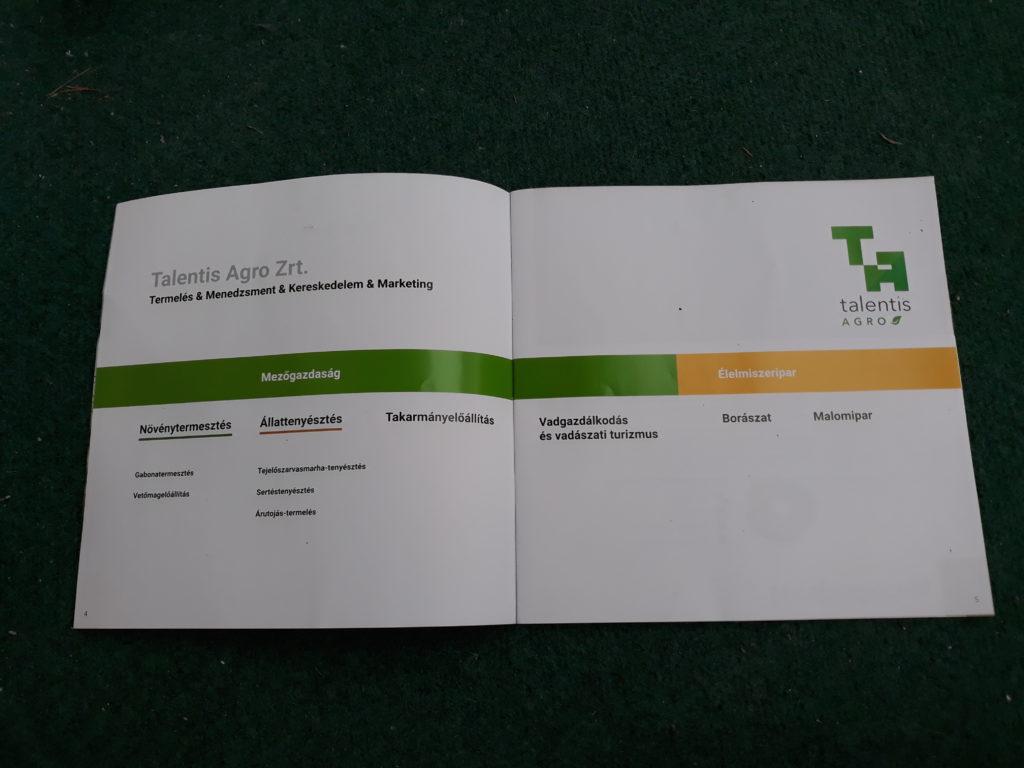 A Talentis Agro Zrt. bemutatkozó prospektusát először a hódmezővásárhelyi Alföldi Állattenyésztési és Mezőgazda Napok konferenciatermében mutatták be