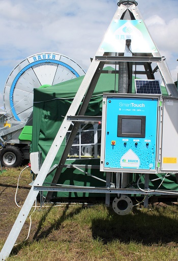 A BAUER Hungária Kft. standján számos, szántóföldi öntözésre kifejlesztett gépet mutattak be Mezőfalván