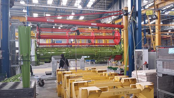 A német-svájci határhoz közel bővíti a telephelyét a CLAAS - képünk illusztráció, a vállalat törökszentmiklósi gyáregységében készült