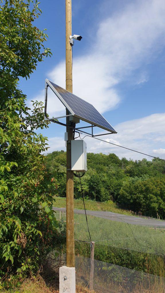 napelemes kamerarendszer kiépítés