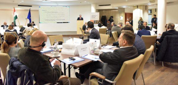 A földrajzi árujelzők fontosságáról és eredményességéről beszélt Farkas Sándor, az Agrárminisztérium miniszterhelyettese a FAO II. Földrajzi Árujelzők Regionális Konferenciáján, Budapesten Fotó: Krasznai-Nehrebeczky Mária