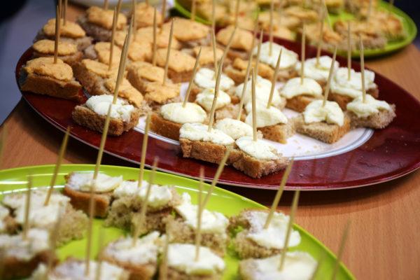 Juh- és kecskehús falatok a fogyasztást népszerűsítő kampány nyitó rendezvényén - Fotó: AMC
