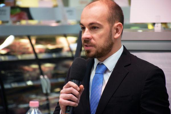 Az Agrármarketing Centrum ügyvezetője, Ondré Péter is méltatta a juh- és kecskehús előnyeit - Fotó: AMC
