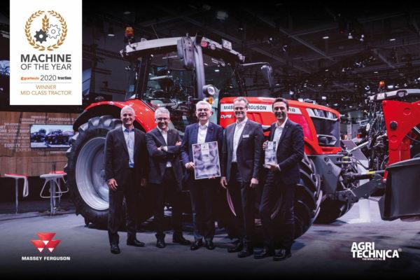 A Massey Ferguson 6700 S sorozat nyerte a legjobb közepes teljesítményű erőgép címet a hannoveri Agritechnica mezőgazdasági kiállításon - Fotó: Massey Ferguson