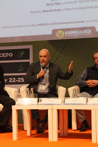 Daoda Zoltán, az AGRO.bio Hungary Kft. szakmai igazgatója a precíziós gazdálkodás gazdasági hasznára is felhívta a figyelmet - Fotó: Magro.hu