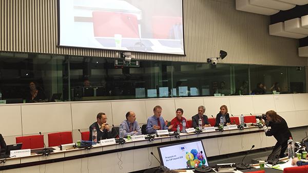 Változik a KAP, a nagy kérdés, hogyan változnak ezen belül az EU-s agrártámogatások? - képünk Brüsszelben a KAP előkészítő egyeztetésekkel kapcsolatos rendezvények egyikén készült - Fotó: a szerző