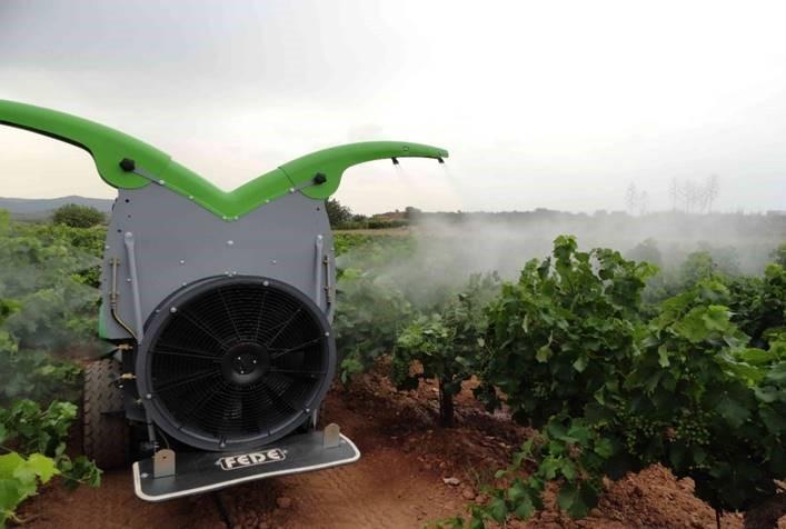 Fede axiál - ventilátoros permetezők H3O precíziós technológiával.