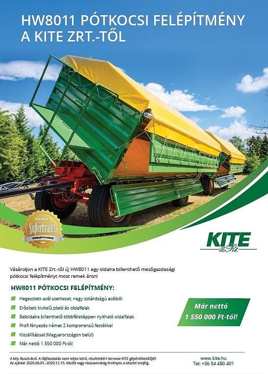 KITE HW 8011 pótkocsi-felépítmény