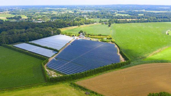 Drónfelvételen a kísérleti helyszín Hollandiában
