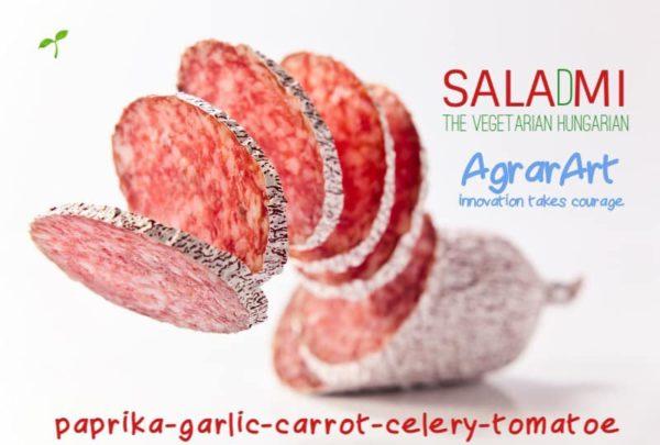 Paprika, fokhagyma, zeller, paradicsom és répa alapú szalámi a SalaDmi