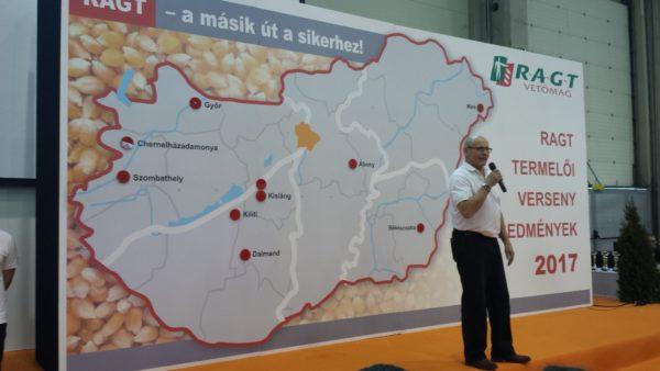 Lonsták János a 2018-as budapesti AGROmashEXPO színpadán - Fotó: Magro.hu, CSZS, Budapest