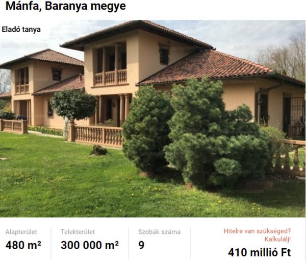 Gyönyörű birtok eladó Mánfán, a Tanyafejlesztés lehetősége itt is adott