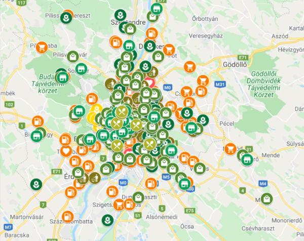 Megjelent az Ökopest online környezettudatos térkép