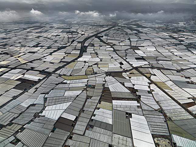 Almería zöldségtermesztése dróntávlatból - Fotó: Érdekes Világ