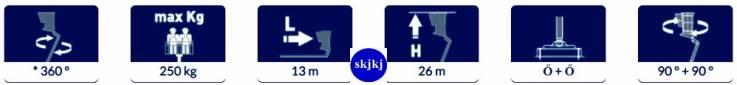 Eladó Személyemlő szerelőkosarás New EUROSKY 26. 2 13 HQ JIB
